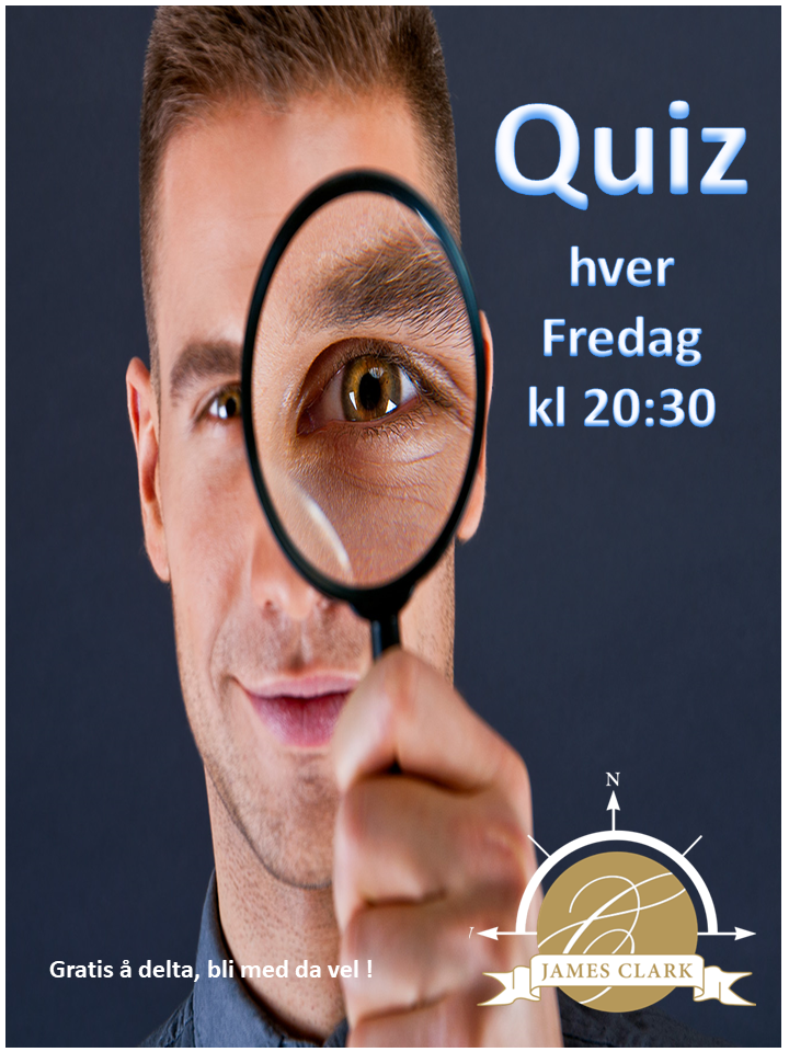 Fredagsquiz på James Clark :)
